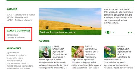 Nuovo Bando da Sardegna Agricoltura