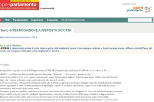 Interrogazione a risposta scritta 4-07846 presentato da VARGIU Pierpaolo testo di Martedì 10 febbraio 2015, seduta n. 374