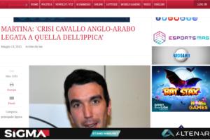 MARTINA: 'CRISI CAVALLO ANGLO-ARABO LEGATA A QUELLA DELL'IPPICA'