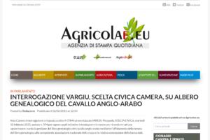 INTERROGAZIONE VARGIU, SCELTA CIVICA CAMERA, SU ALBERO GENEALOGICO DEL CAVALLO ANGLO-ARABO