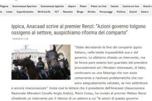 Anacaad scrive al premier Renzi
